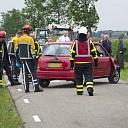 Auto belandt op de zijkant na aanrijding in Dalmsholte