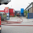 Brand in loods aan de Sint Olafstraat in Deventer