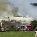 Uitslaande brand in boerderij in Oudleusen