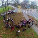 Duurzame kerstboom ontstoken op Eikelhof