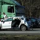 A50 afgesloten na ongeval met vrachtwagen