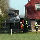Brand in schuurtje aan de Heetkampsweg in Broekland