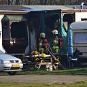 Woonwagen in brand aan de Rechterland in Zwolle