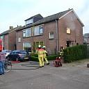 Brand in woning aan de Enkweg in Olst
