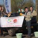Auto's wassen voor Wereld Jamboree