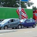 N35 afgesloten door ongeluk met meerdere auto's