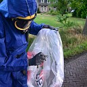 Asbest wordt opgeruimd na grote brand in Heeten