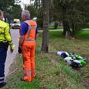 Motorrijder in de sloot na aanrijding in Wijhe