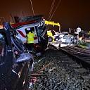 Bergingswerkzaamheden na aanrijding tussen vrachtwagen en trein in Diepenveen