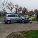 Scooterrijder raakte gewond na botsing bij Broekland