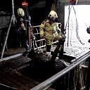 Brandweer haalt koe uit mestkelder in Heino