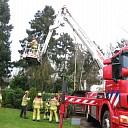 Brandweer voorkomt vallen boom op huis in Heino