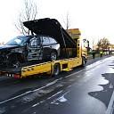 Ravage na ongeval op de Wijheseweg bij Raalte