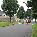 Boom op de weg in woonwijk in Raalte