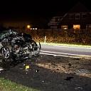 Auto zwaar beschadigd na ongeval in Heeten