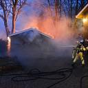 Brand in schuur aan Prins Bernhardlaan in Wijhe
