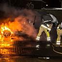 Auto uitgebrand op parkeerplaats in Olst