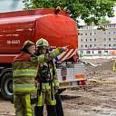 Brand in oud pand Isala aan de Wezeland in Zwolle.