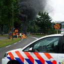 Auto in brand op de N332 in Raalte