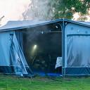 Caravan in brand op camping in Fortmond